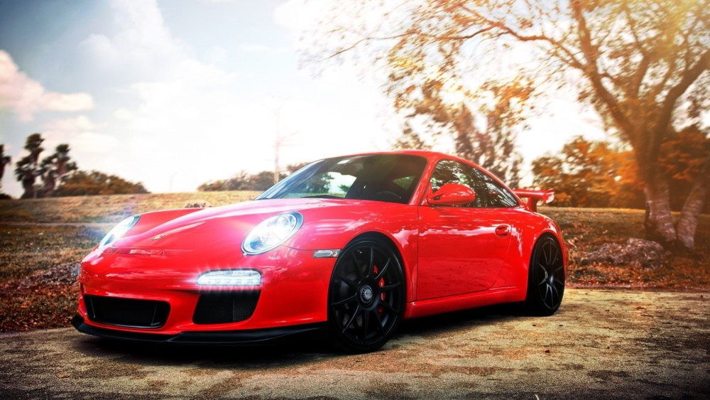 Red Porsche Car Wallpaper, Car Background