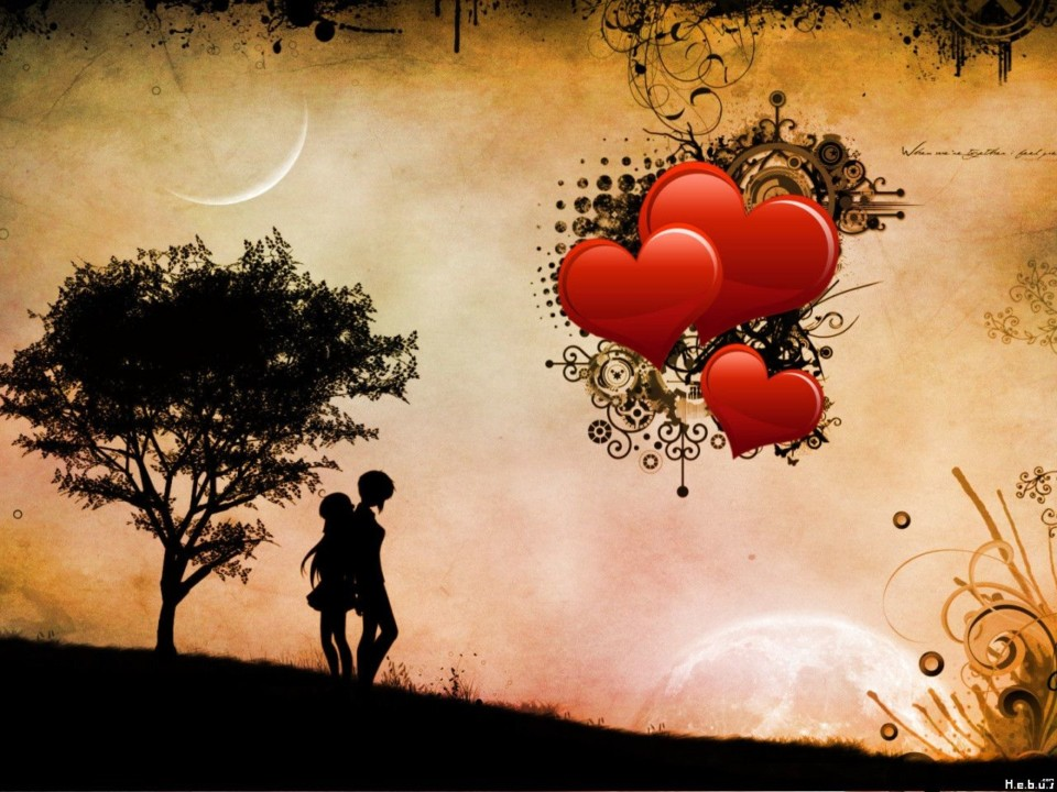 3D Love HD Wallpaper