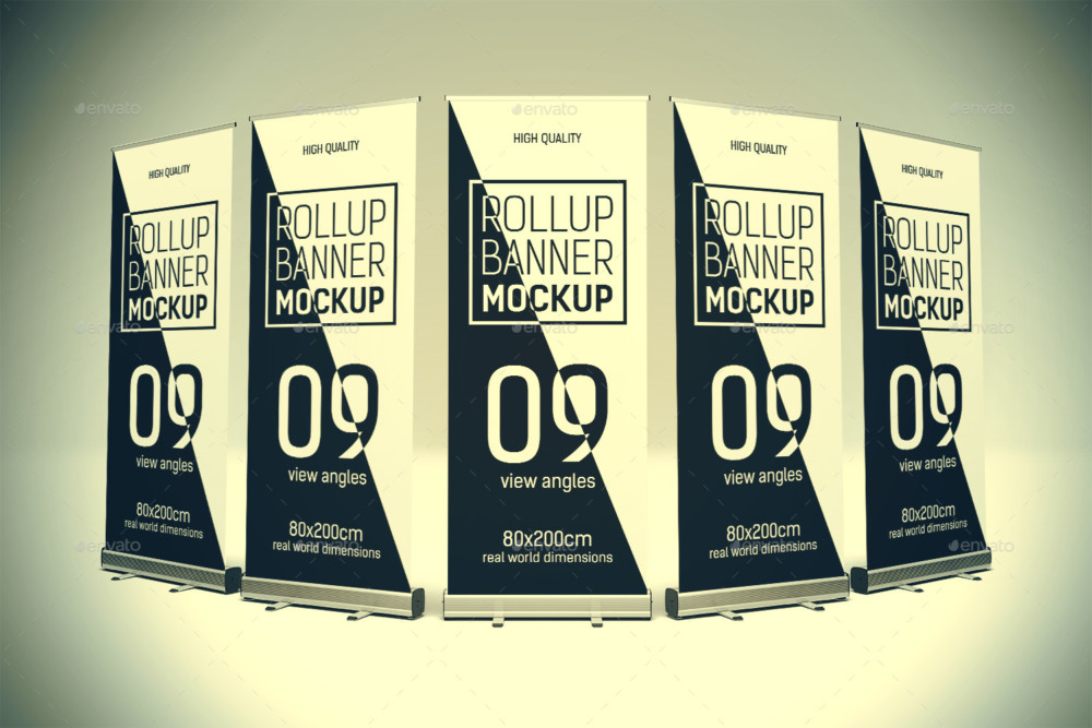 Ad Rollup Banner Mockup PSD