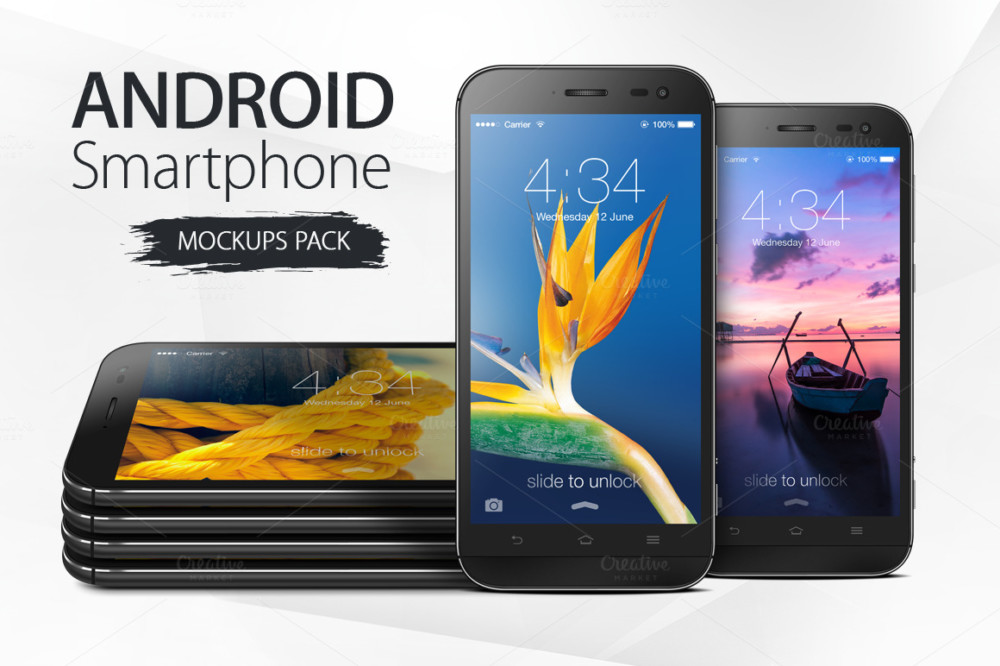 Android Mobile Mockup PSD