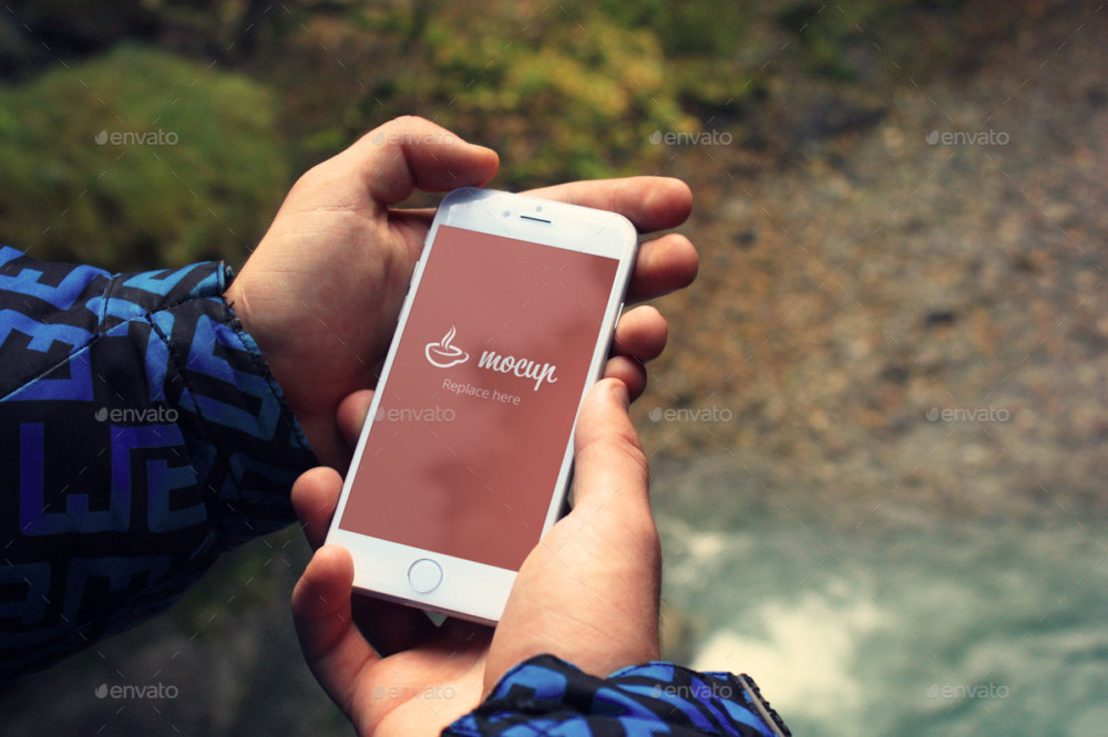 iphone Outdoor Mockup