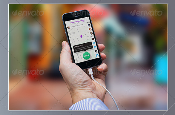 Mobile Phone in Hand Mockup