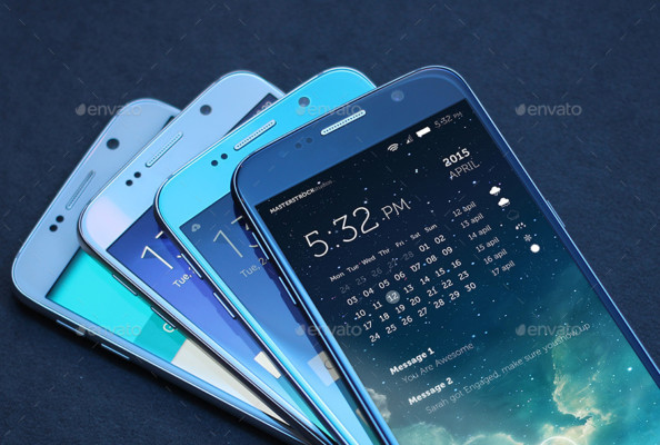 Photo Realistic Samsung Mobile Mockup