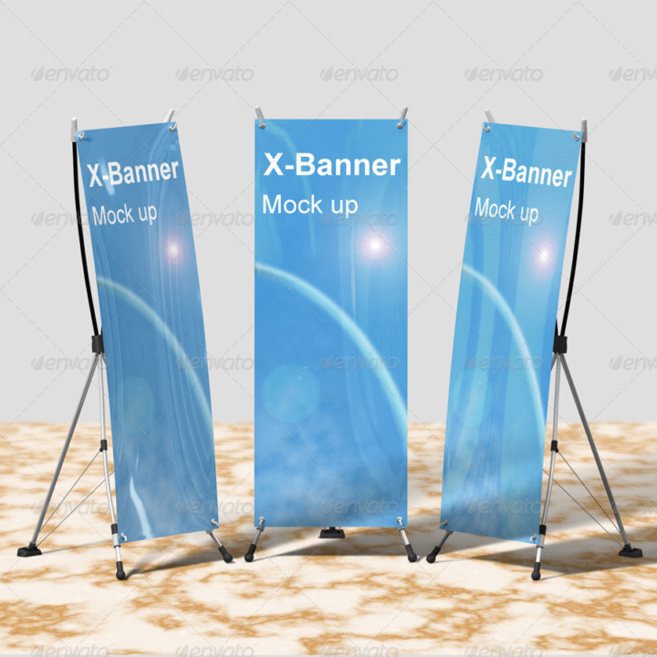 Photorealistic Banner Mockup Template