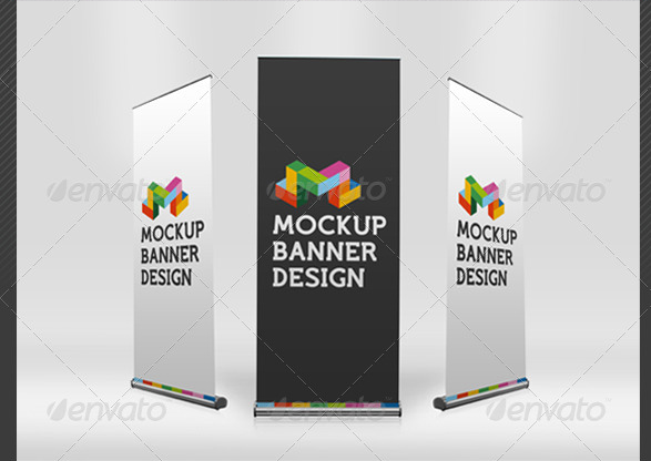 Professional Banner Mockup PSD