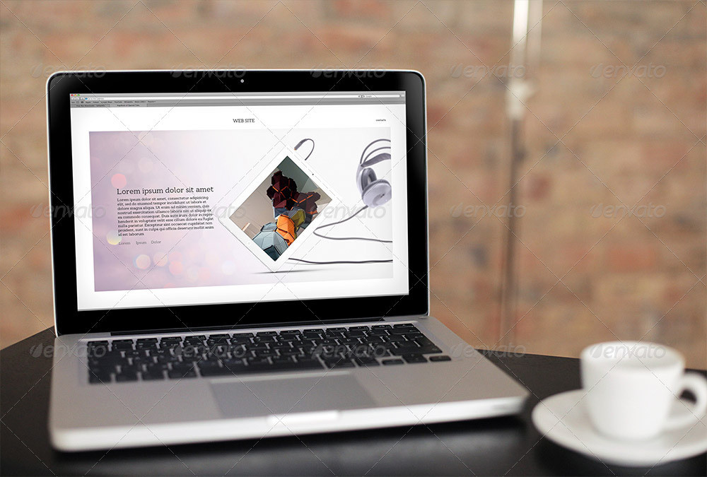 Realistic Laptop Mockup PSD