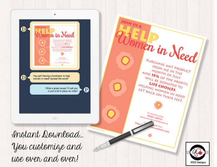 editable-fundraiser-invitation-template