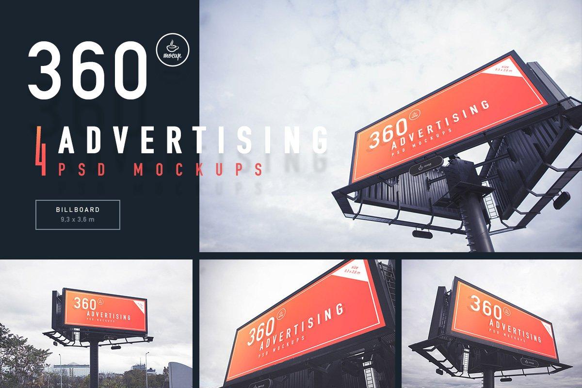 4 Advertising PSD Mockups