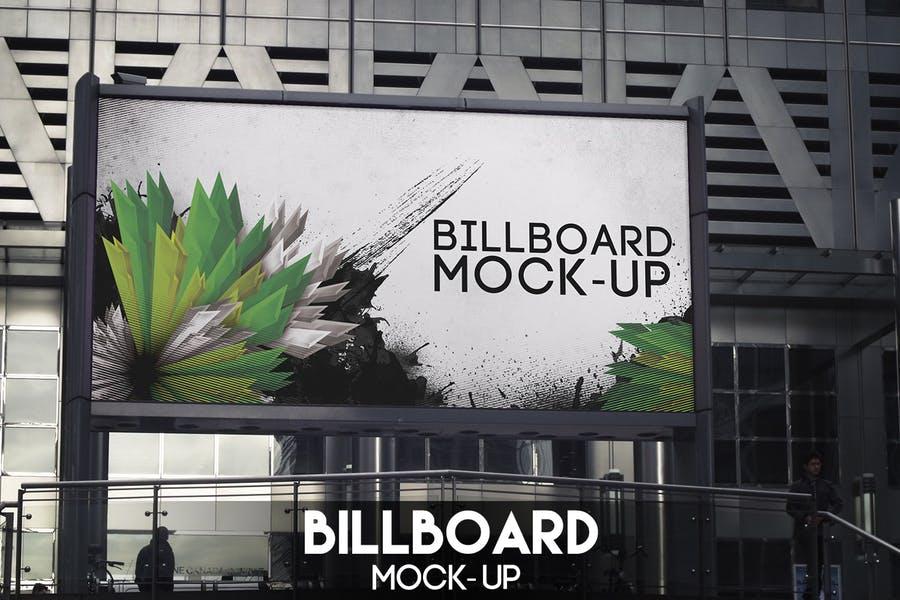 Billboard Advertising Mockup PSD