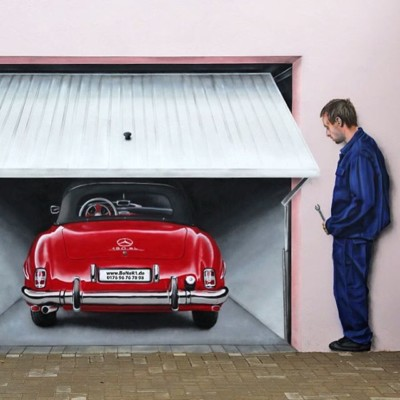 Car Illusion Painting