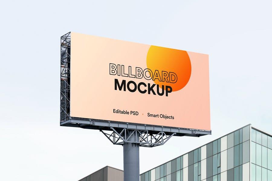 Editable Billboard Mockup PSD