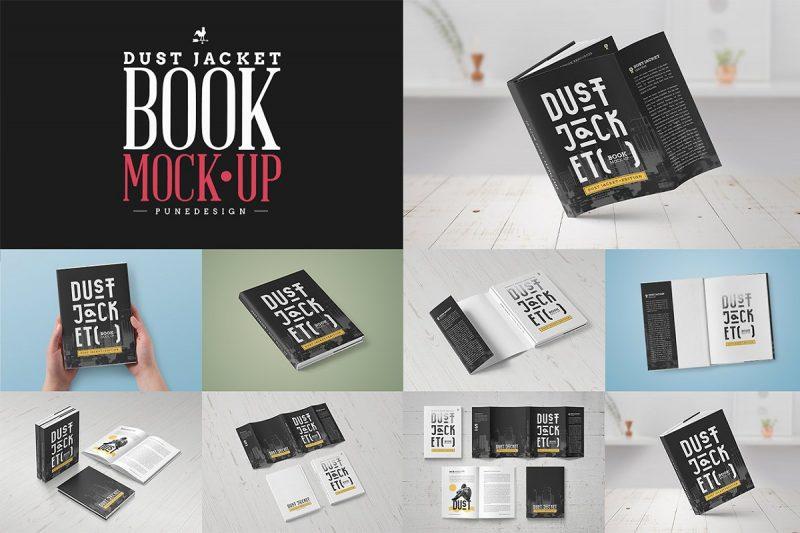 Elegant Dustjacket Book Mockup PSD