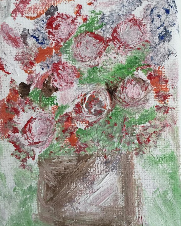 Flower of Vase Oil Painting