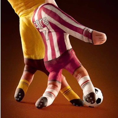 Football Illusion Painting