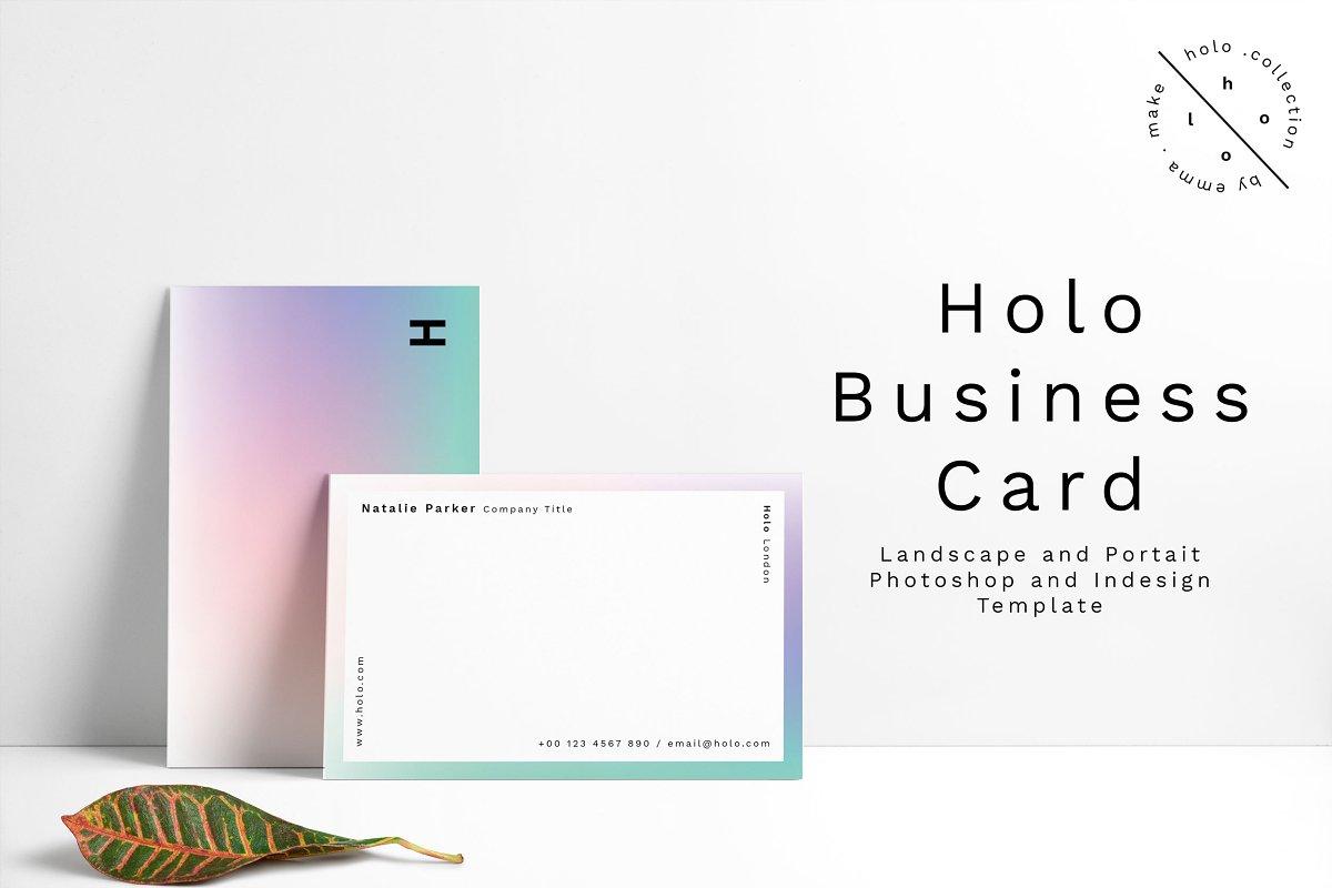 Landscape and Potrait Business Card Template