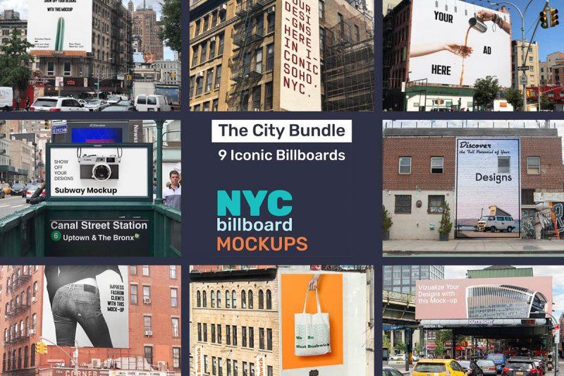NYC Billboard Mockup PSD