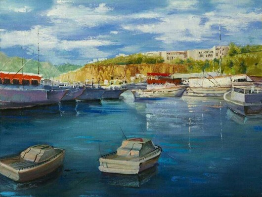 Oil Painting of Turkey