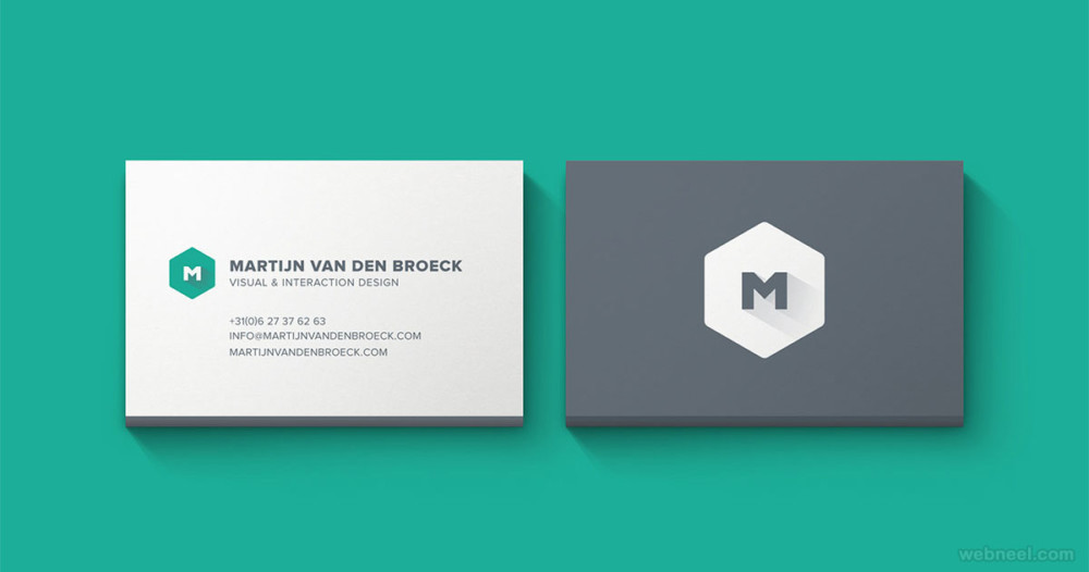 25 amazing corporate business card design for inspiration for Example of a business card
