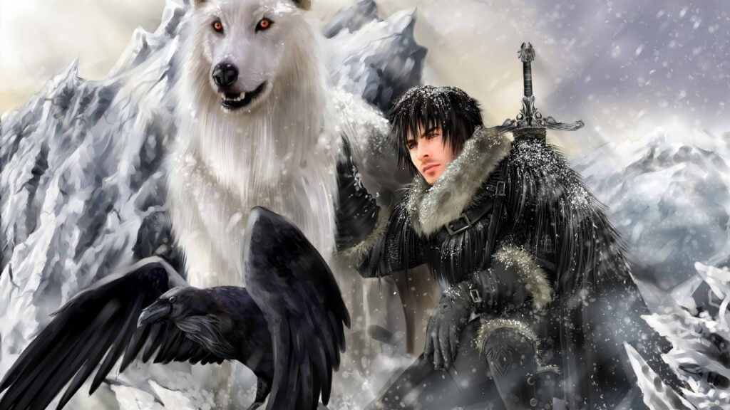 game_of_thrones_a_song_of_ice_and_fire_jon_snow_raven 6 best