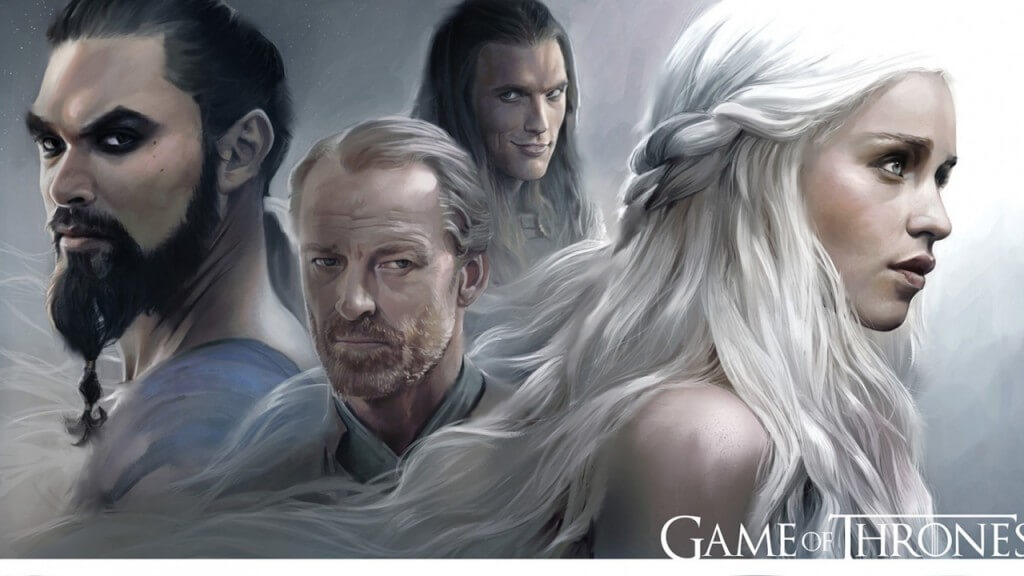 game_of_thrones_emilia_clarke_daenerys_targaryen_khal_drogo_jason_momoa_jorah_mormont_hbo_8 wallpapers