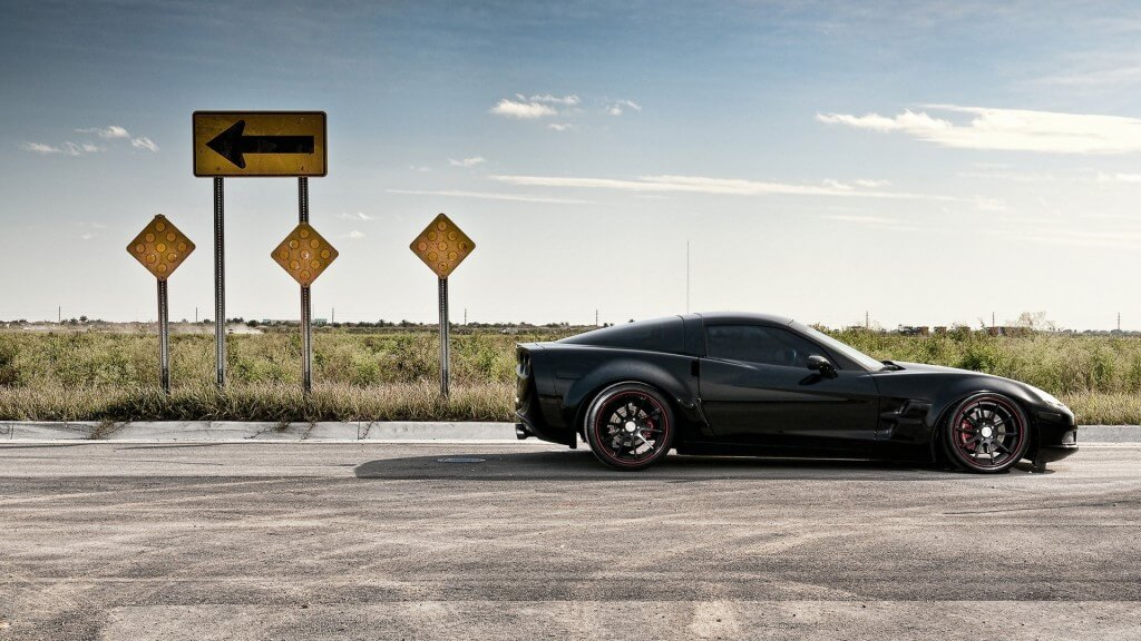 road_traffic_auto_black_corvette_best_car_wallpapers