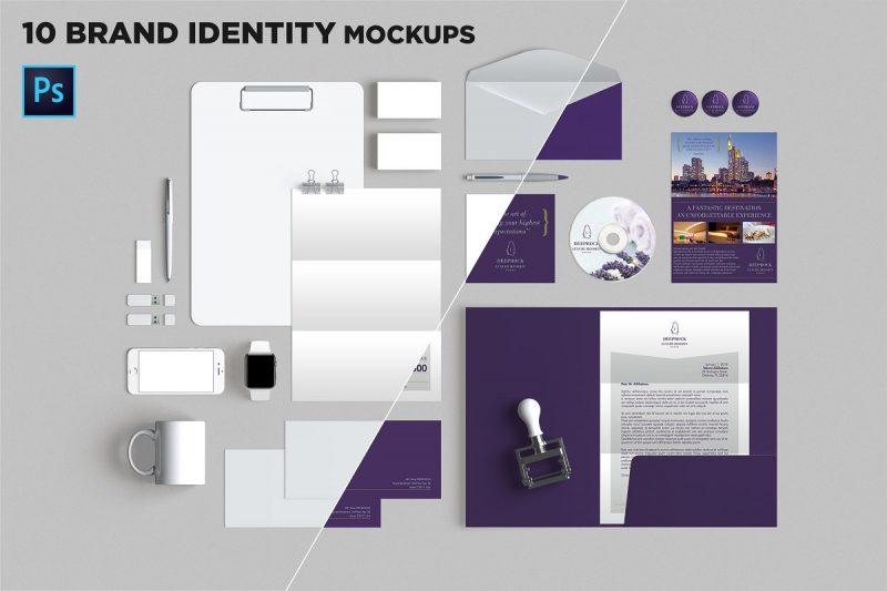 10 Branding Mockup Scenes