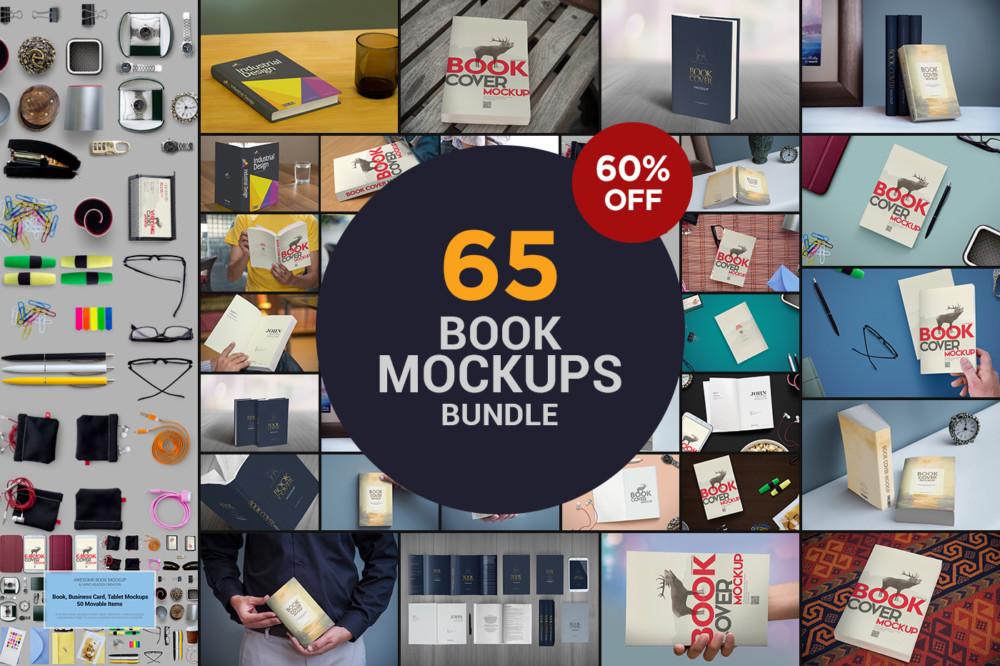 65 Book Mockup Bundle