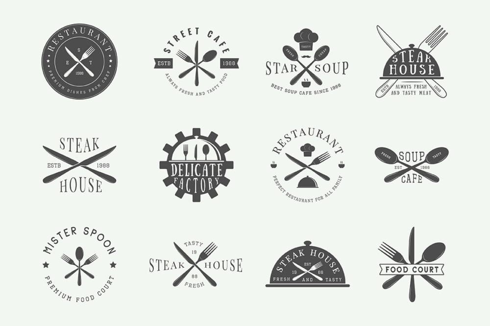 creative food logo designs for your inspiration
