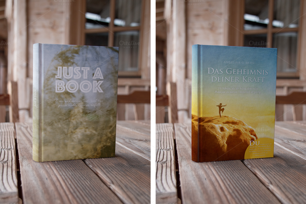 Authentic Book Cover Mockup