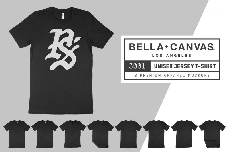 Bella Canvas T Shirt Mockup PSD