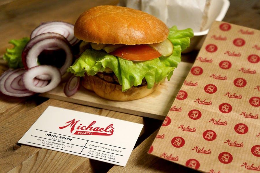 Burger Restaurant Branding Mockup