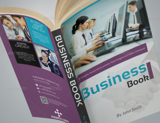 Business Book Cover Mockup