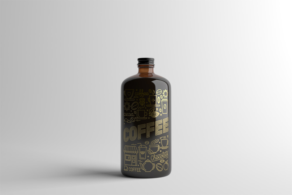 Coffee Bottle Packaging Mockup