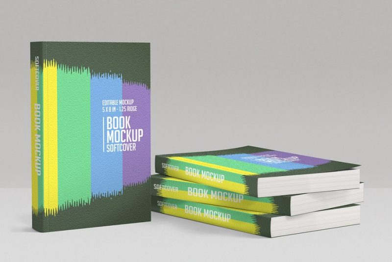 Creative Softcover Book Mockup PSD