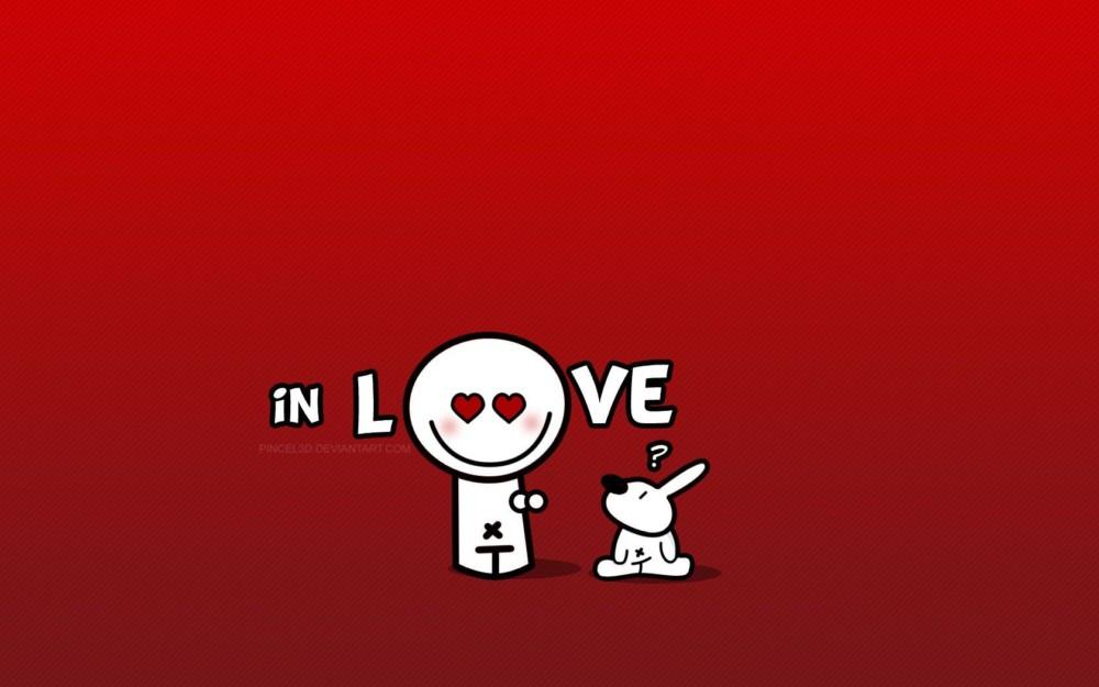 Cute in Love Wallpaper