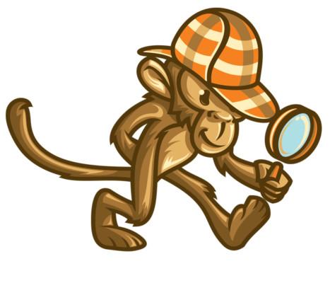 Detective Monkey Logo Design