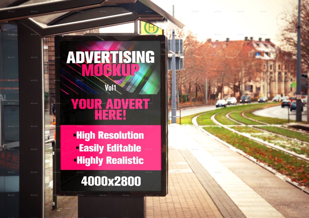 Easily Editable Advertisement Mockup