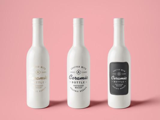 Elegant Bottle Mockup, Bottle Mockup