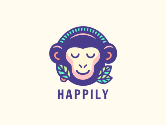 Exotic Monkey Logo Design