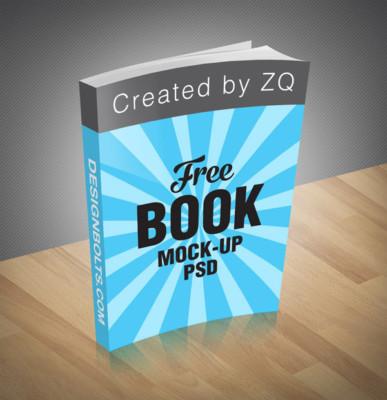 Free Book Mockup PSD