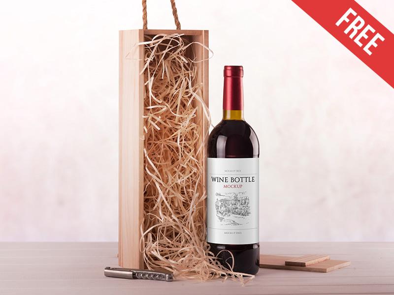 Free Wine Branding Mockup