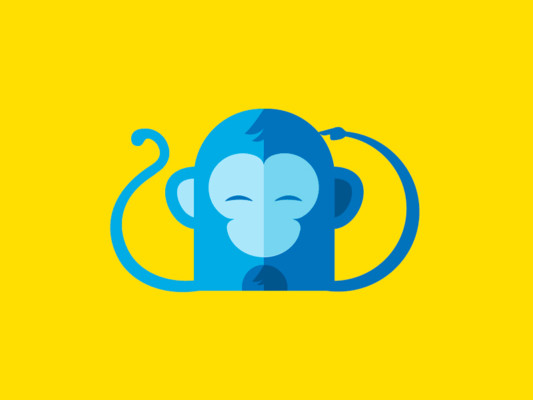 Funny monkey Logo Design
