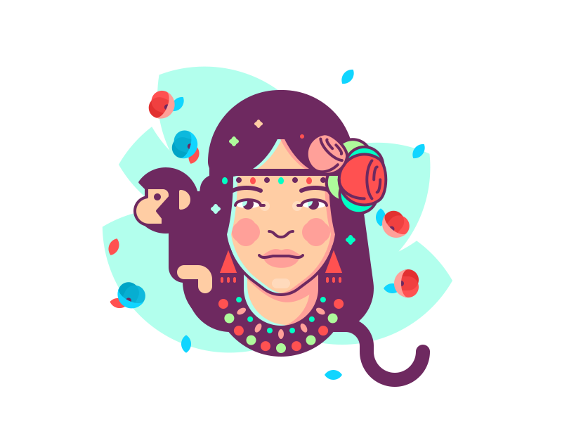 Girl With Monkey Logo