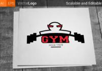 Gym logos best gym logo fitness emblem symbol gym vector barbell muscle set stamp