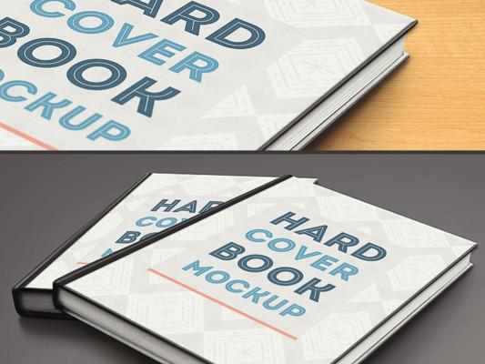 Hard Book Cover Mockup