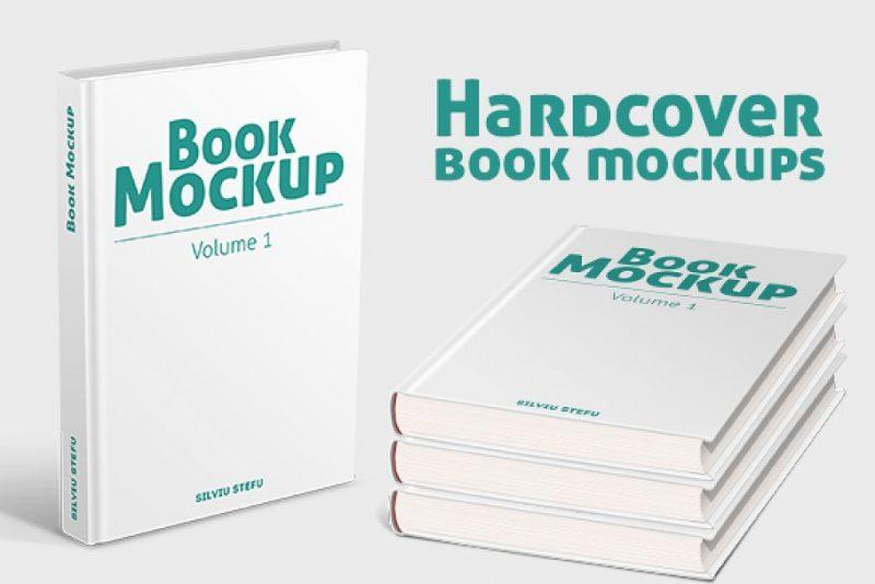 Hardcover Book Branding Mockup