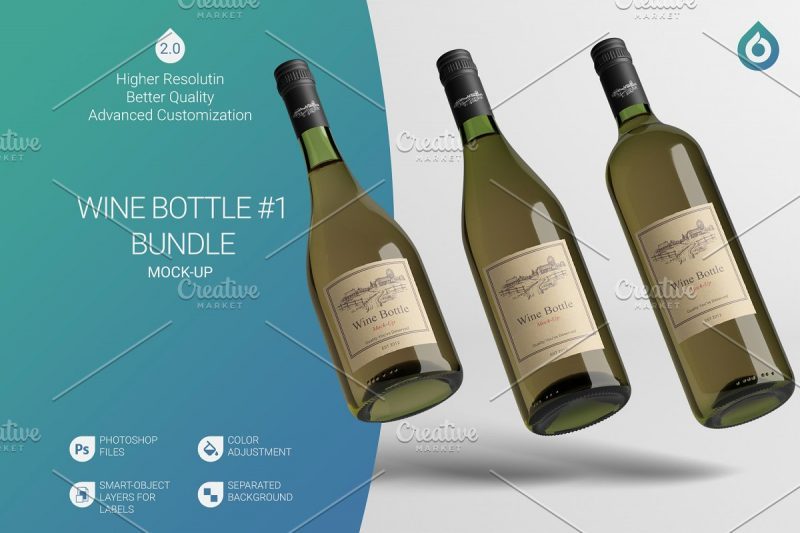 High Quality Wine Branding Mockup