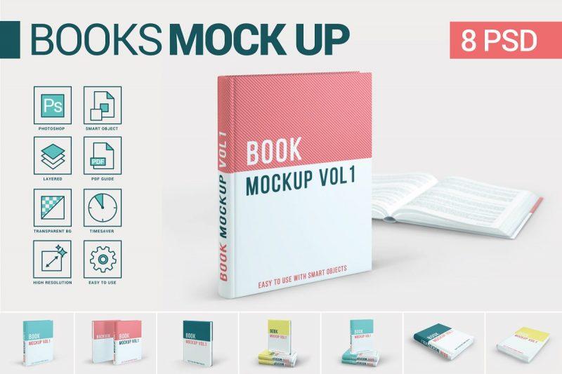 High Resolution Book Mockup PSD