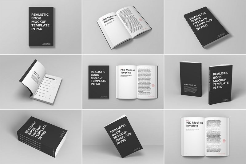 High Resolution Soft Cover Book Mockup PSD
