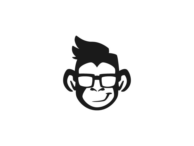 Hipster Monkey Logo Design